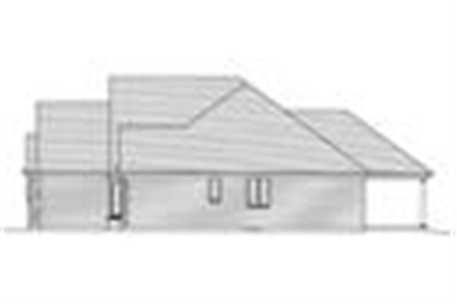 169-1026: Home Plan Right Elevation