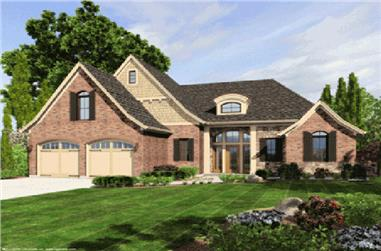 3-Bedroom, 1741 Sq Ft Ranch House Plan - 169-1030 - Front Exterior