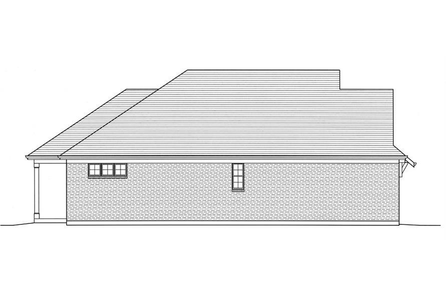 169-1033: Home Plan Left Elevation