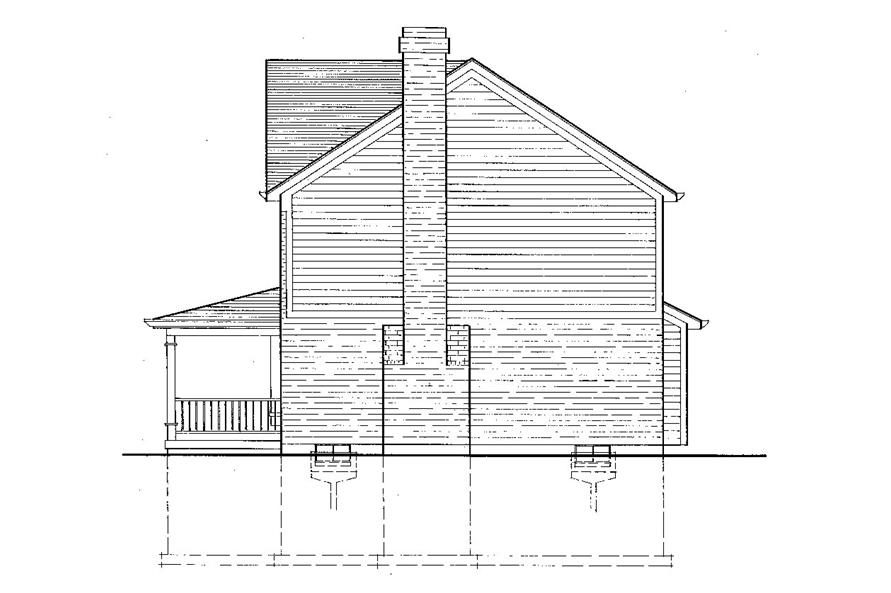169-1039: Home Plan Right Elevation