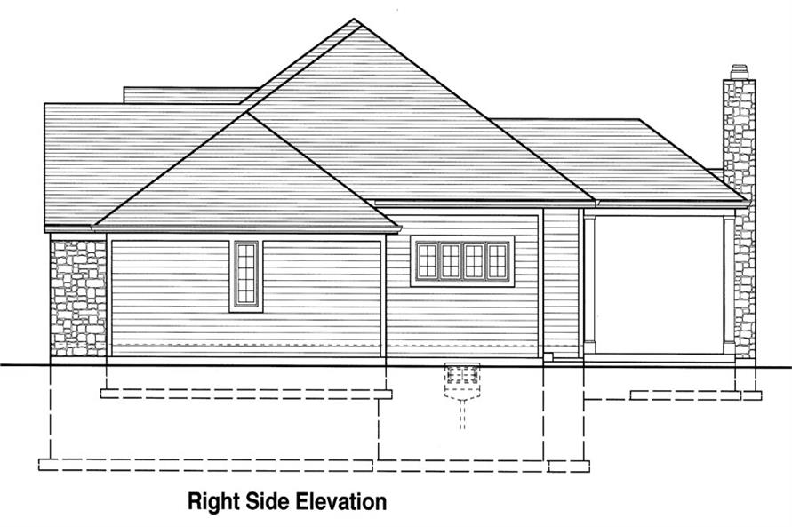 169-1042: Home Plan Right Elevation