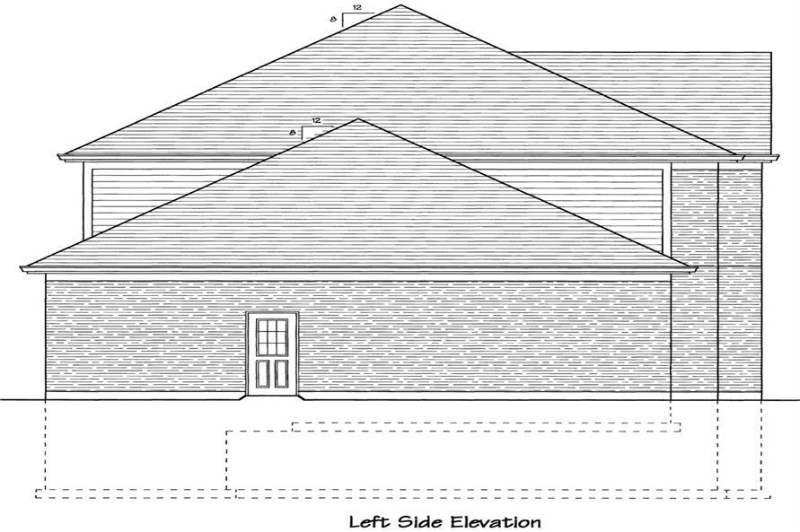 169-1044: Home Plan Left Elevation