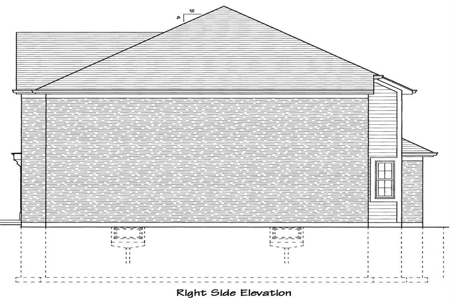 169-1044: Home Plan Right Elevation