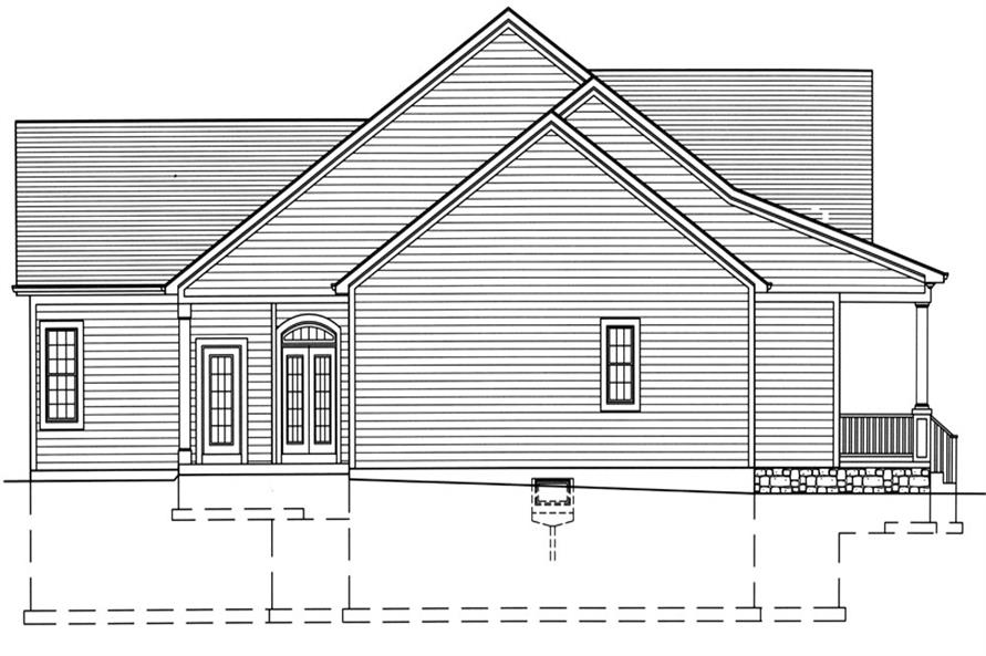 169-1047: Home Plan Left Elevation