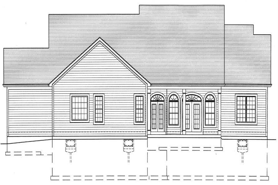 169-1047: Home Plan Rear Elevation