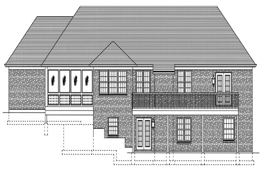 169-1049: Home Plan Rear Elevation