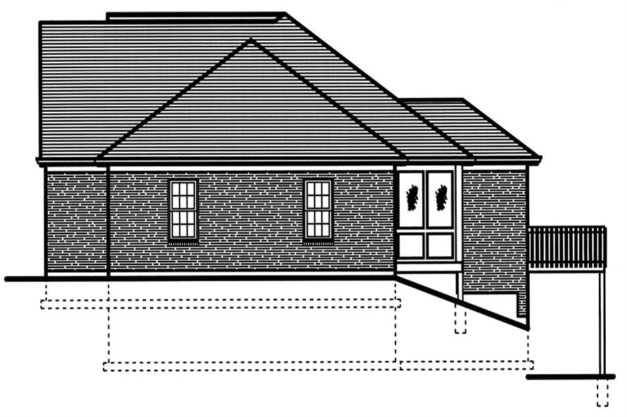 169-1049: Home Plan Right Elevation