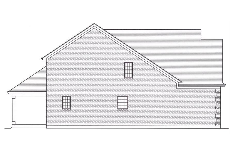 169-1050: Home Plan Left Elevation
