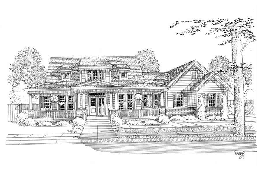 169-1052: Home Plan Rendering
