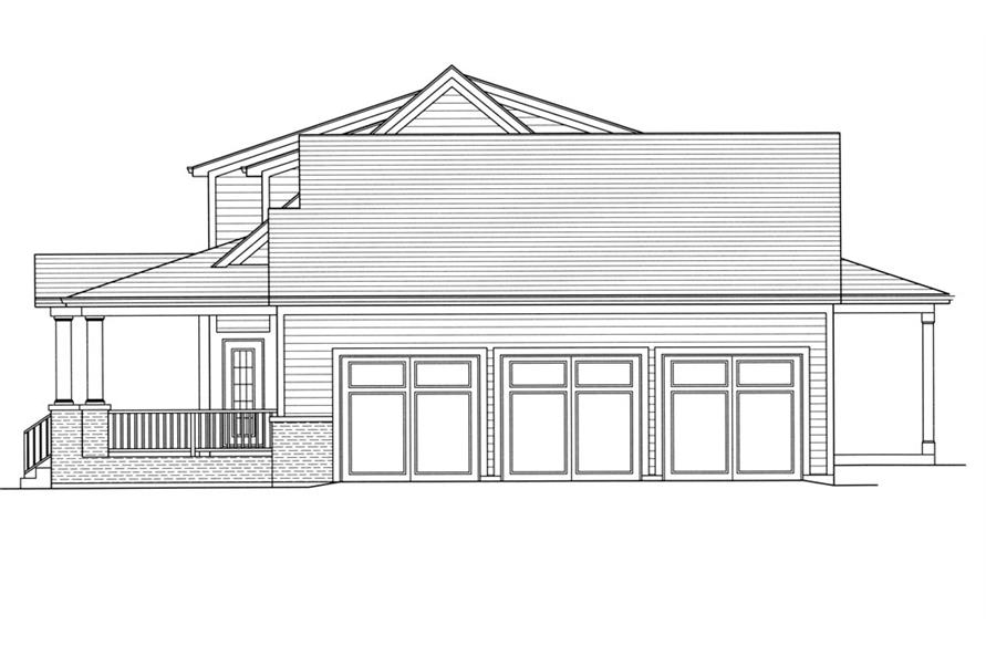 169-1052: Home Plan Right Elevation