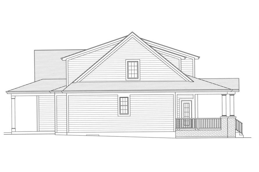 169-1052: Home Plan Left Elevation