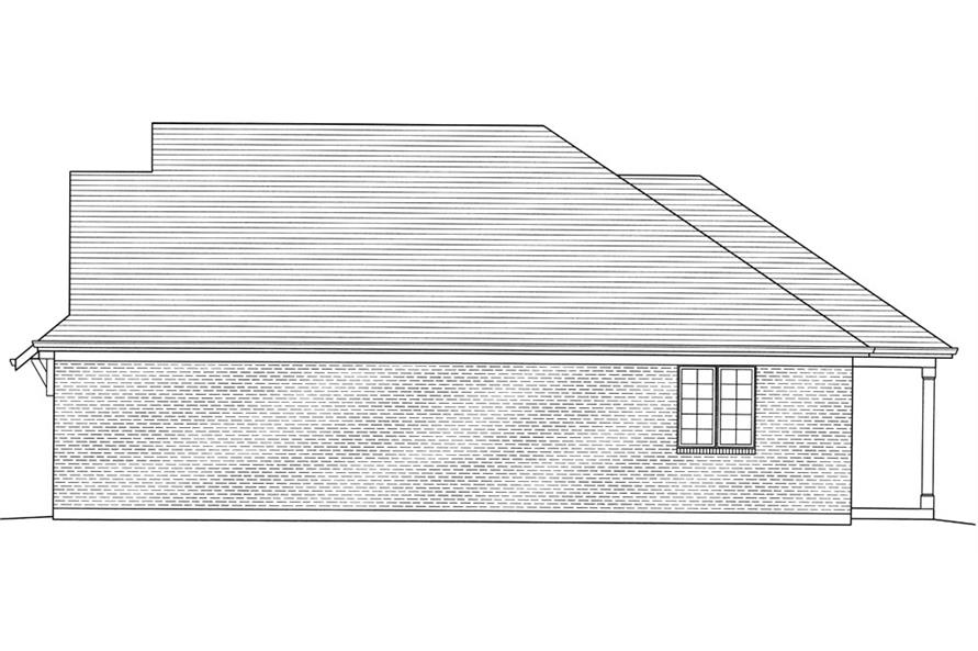 169-1054: Home Plan Right Elevation