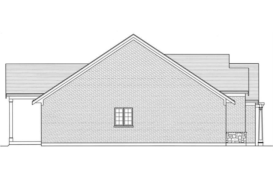 169-1055: Home Plan Left Elevation