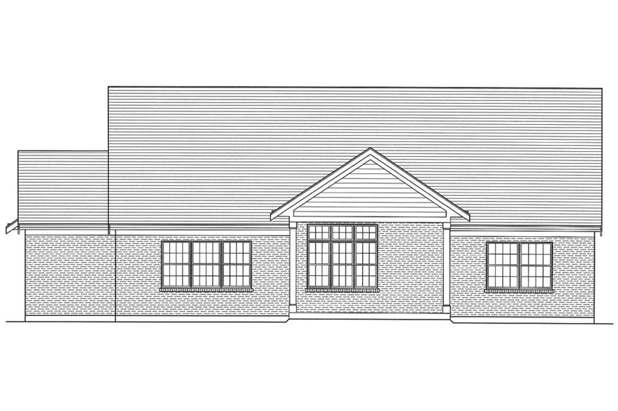 169-1055: Home Plan Rear Elevation