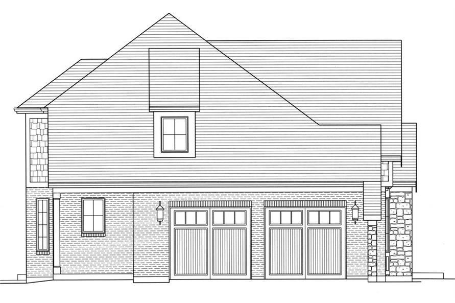 169-1057: Home Plan Left Elevation