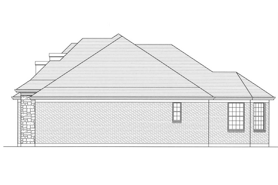 169-1060: Home Plan Right Elevation