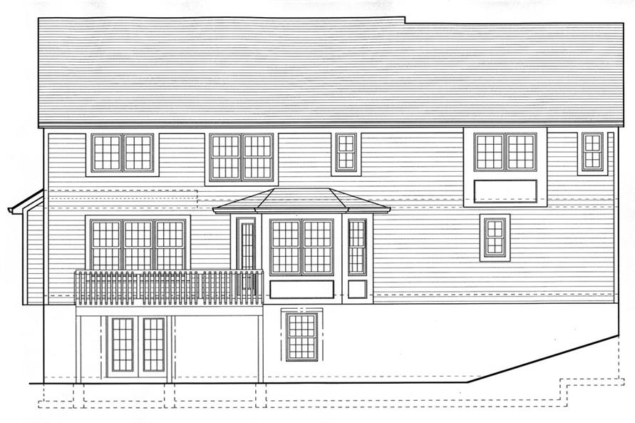 169-1063: Home Plan Rear Elevation