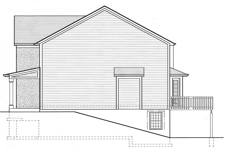 169-1063: Home Plan Right Elevation