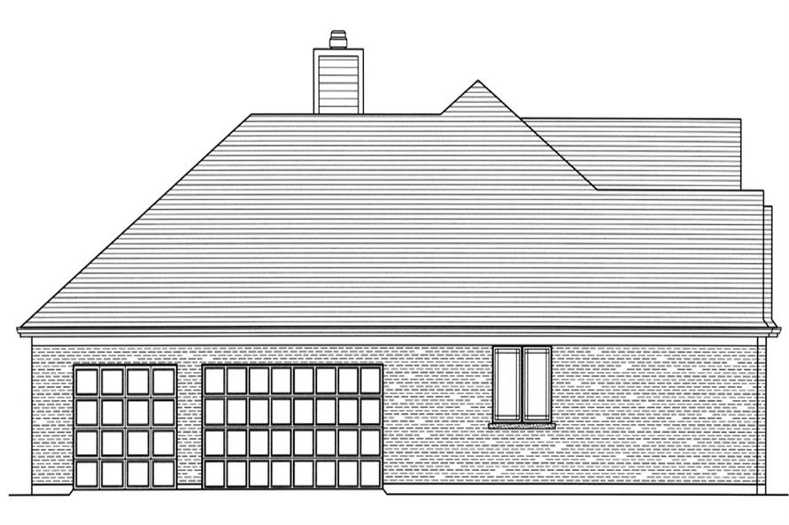 169-1066: Home Plan Left Elevation