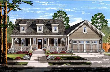 3-Bedroom, 1664 Sq Ft Cape Cod Home Plan - 169-1146 - Main Exterior