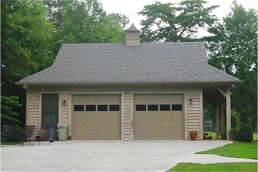Color photo of Garage plan (ThePlanCollection: Garage House Plan #170-1280)
