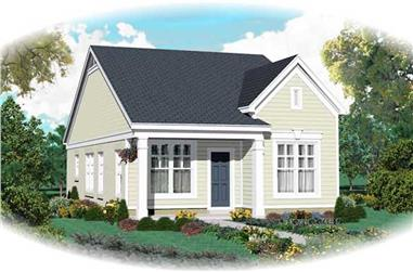 2-Bedroom, 1058 Sq Ft Country House Plan - 170-1798 - Front Exterior