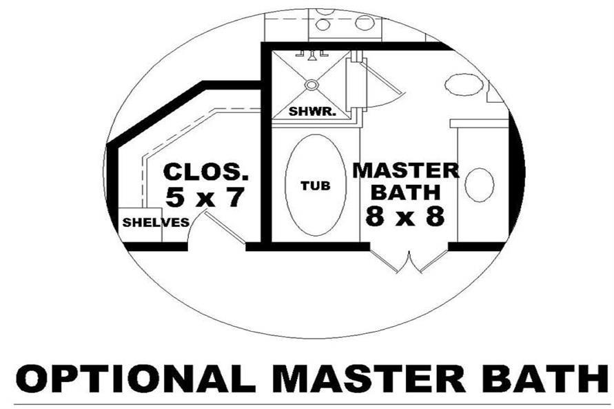 OPTIONAL MASTER BATH ROOM