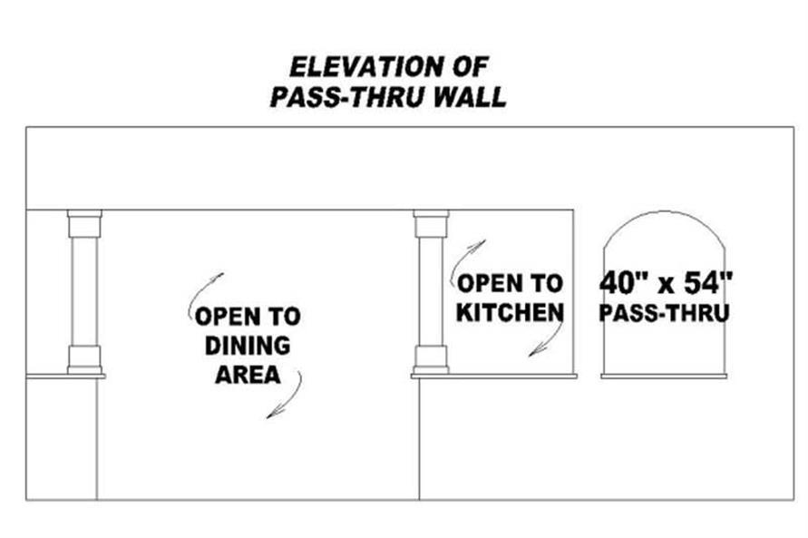 PASS-THRU WALL ELEVATION