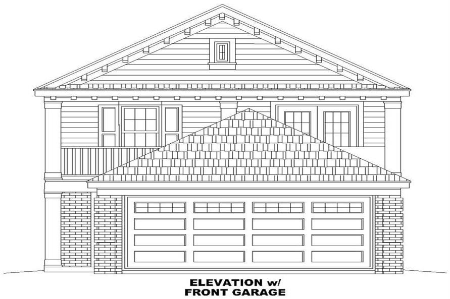 FRONT ELEVATION WITH GARAGE