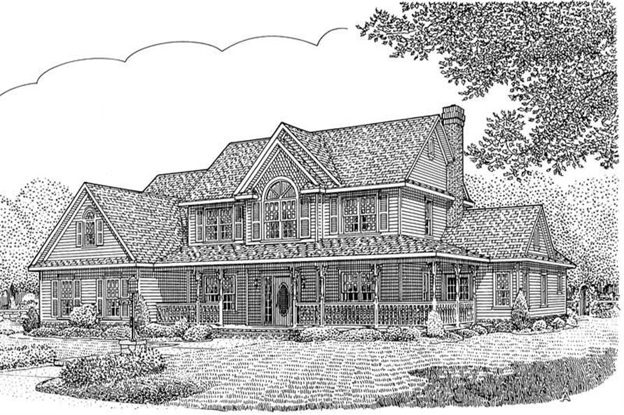 House Plan E162g3X Front Elevation
