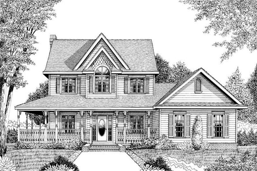 House Plan D140 Front Elevation