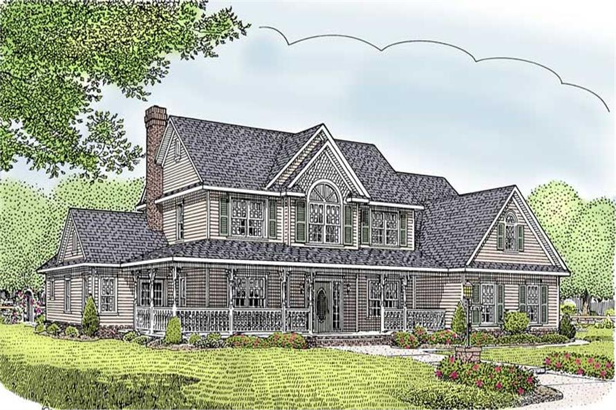 Main image for house plan # 16993