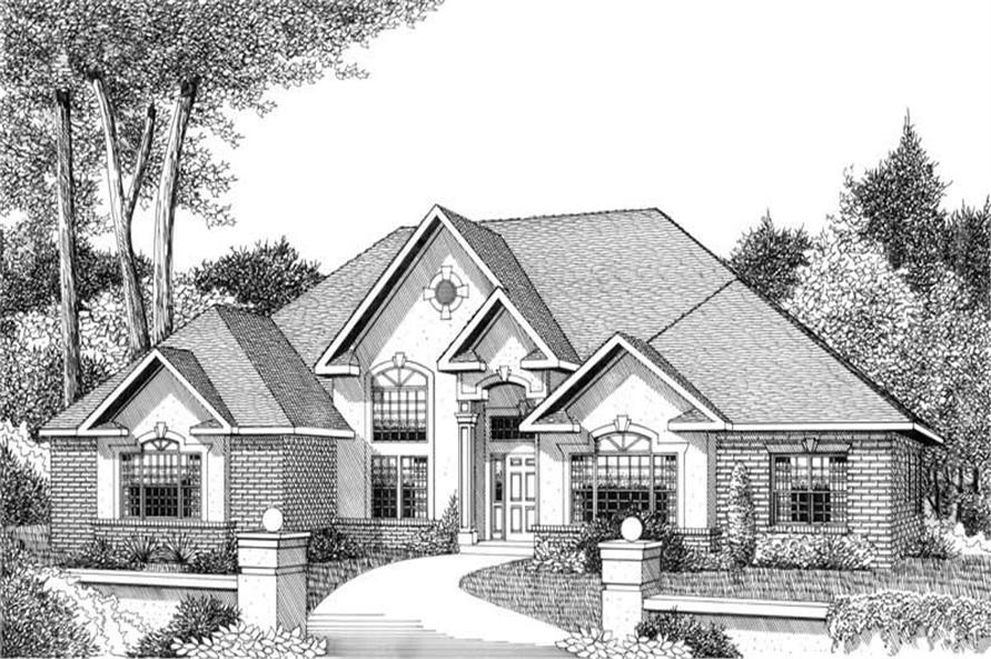 House Plan E159 Front Elevation