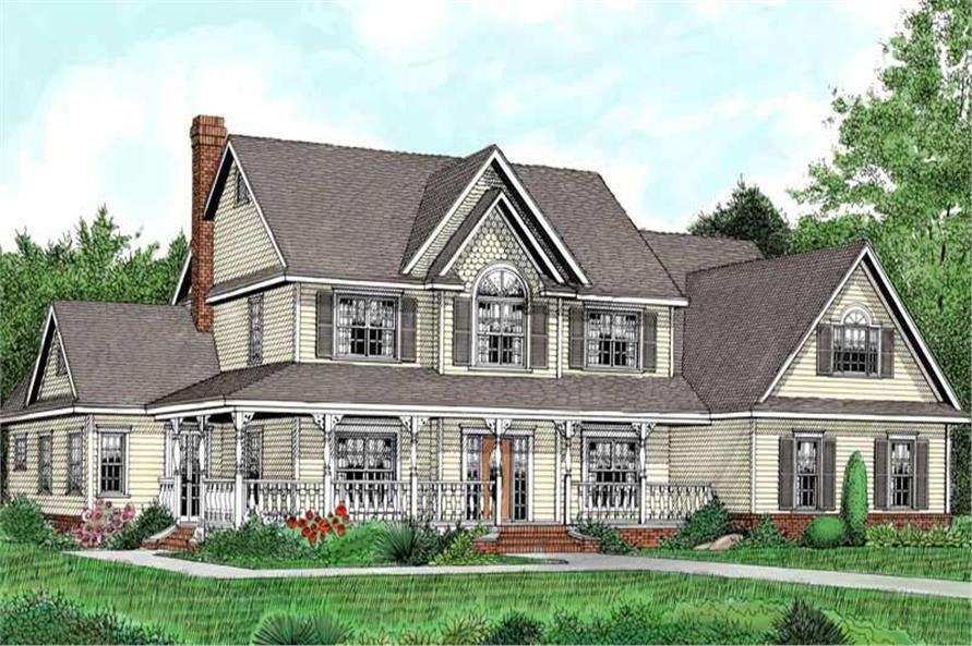Main image for house plan # 17001