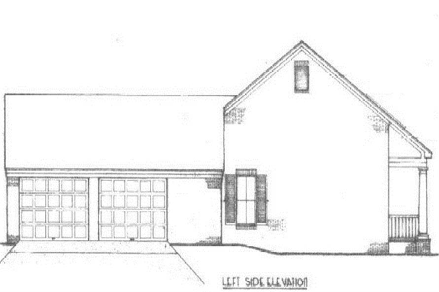 174-1062: Home Plan Left Elevation