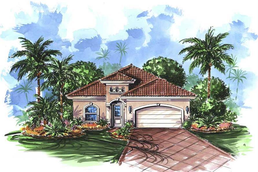 Color Rendering Mediterranean Houseplans.