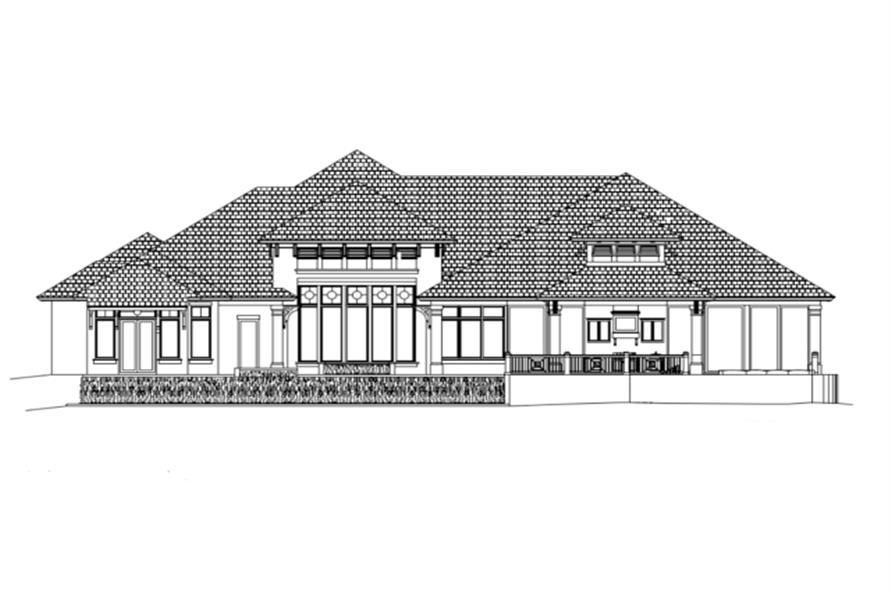 175-1087: Home Plan Rear Elevation