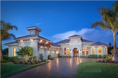 4-Bedroom, 4100 Sq Ft Luxury House - Plan #175-1102 - Front Exterior