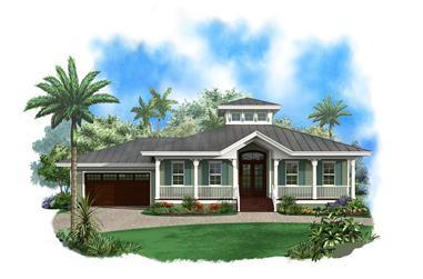 3-Bedroom, 1697 Sq Ft Ranch Home Plan - 175-1108 - Main Exterior