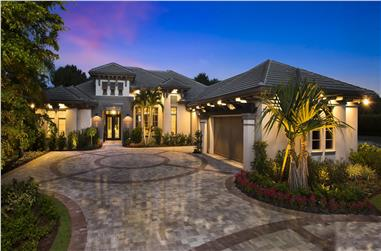 4-5 Bedroom, 3869 Sq Ft Contemporary House Plan - 175-1129 - Front Exterior