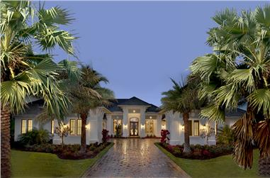 4-Bedroom, 4817 Sq Ft Florida Style House - Plan - 175-1131 - Front Exterior