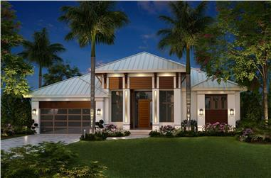 3-Bedroom, 2684 Sq Ft Contemporary House - Plan #175-1134 - Front Exterior