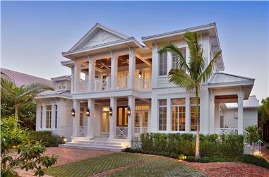 5-Bedroom, 5653 Sq Ft Coastal Home - Plan #175-1243 - Main Exterior