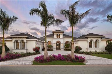 4-Bedroom, 4386 Sq Ft Mediterranean Home Plan - 175-1251 - Main Exterior