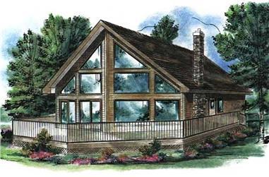 2-Bedroom, 1122 Sq Ft Cabin Home Plan - 176-1003 - Main Exterior