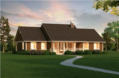 3-Bedroom, 1820 Sq Ft Southern Home Plan - 176-1019 - Main Exterior