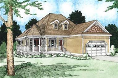3-Bedroom, 1506 Sq Ft Bungalow Home Plan - 177-1000 - Main Exterior