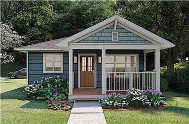 1-Bedroom, 624 Sq Ft Ranch House Plan - 177-1047 - Front Exterior