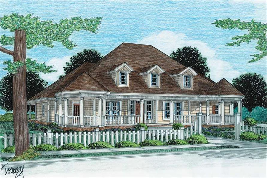 Main image for house plan # 5861