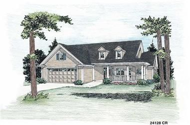 3-Bedroom, 1859 Sq Ft Country Home Plan - 178-1073 - Main Exterior